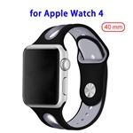 2018 Brand New Designed Durable Wrist Fitting Silicone Strap Band for Apple Watch 4 40mm (Black)