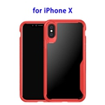 TPU Protective Back Cover Case for iPhone X (Red)