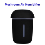 CE ROHS FCC Approved 200ML USB Mushroom Air Humidifier (Black)