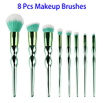 8pcs Calabash Shape Handle Synthetic Hair Makeup Brush Set