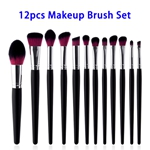 12pcs/set Synthetic Hair Wood Handle Makeup Brushes Set (Color 2)