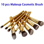 10pcs Professional BB Cream Foundation Cosmetic Makeup Brush Set (Gold)