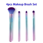 4pcs Portable Super Soft Premium Synthetic Hair Makeup Brushes Set