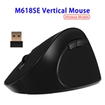 Colorful Delux Wireless M618SE Ergonomic Vertical Gaming Mouse (Black)