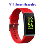 Color Screen Patent Design V11 CE ROHS FCC Waterproof Smart Sports Band (Red)