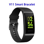 Color Screen Patent Design V11 CE ROHS FCC Waterproof Smart Sports Band (Black)