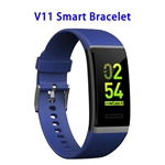 Color Screen Patent Design V11 CE ROHS FCC Waterproof Smart Sports Band (Blue)