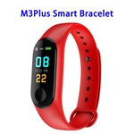 Quality Guaranteed M3 Plus Colorful Screen Smart Heart Rate Monitoring Sports Band (Red)