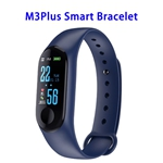 Quality Guaranteed M3 Plus Colorful Screen Smart Heart Rate Monitoring Sports Band (Blue)