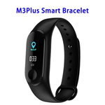 Quality Guaranteed M3 Plus Colorful Screen Smart Heart Rate Monitoring Sports Band (Black)