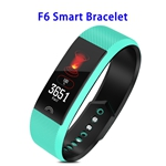 Factory Price F6 Model CE ROHS FCC Approved Colorful Screen IP68 Smart Sports Band (Blue)