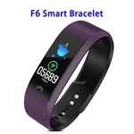 Factory Price F6 Model CE ROHS FCC Approved Colorful Screen IP68 Smart Sports Band (Purple)