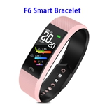 Factory Price F6 Model CE ROHS FCC Approved Colorful Screen IP68 Smart Sports Band (Pink)