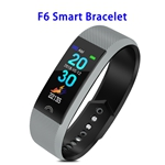 Factory Price F6 Model CE ROHS FCC Approved Colorful Screen IP68 Smart Sports Band (Grey)