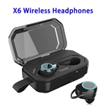 Noise Reduction X6 Model Wireless 5.0 Version 3000 mAh Charging Box Sports Earphone