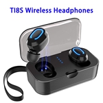 CE ROHS FCC Approved Patent TI8S Model HD Stereo Wireless Version 5.0 Sports Earphone