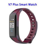 New Design Dailog Chip Wireless Version 4.0 0.96inch TFT Colorful Display Sports Smart Watch (Red)