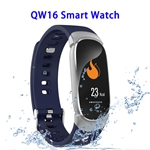 CE ROHS FCC Approved QW16 Heart Rate Smart Bracelet Waterproof Fitness Tracker (Silver)