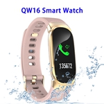 CE ROHS FCC Approved QW16 Heart Rate Smart Bracelet Waterproof Fitness Tracker (Rose Gold)