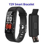 CE ROHS FCC Approved Y29 0.96inch Color Screen True 90mAh Sports Smart Bracelet (Black)