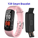 CE ROHS FCC Approved Y29 0.96inch Color Screen True 90mAh Sports Smart Bracelet (Pink)