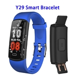 CE ROHS FCC Approved Y29 0.96inch Color Screen True 90mAh Sports Smart Bracelet (Blue)