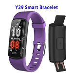 CE ROHS FCC Approved Y29 0.96inch Color Screen True 90mAh Sports Smart Bracelet (Purple)