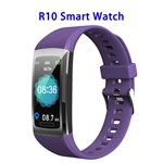 Brand New R10 Model 1.14inch Colorful Touching Screen Professional Fitness Data Recorder Smart Band (Purple)