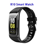 Brand New R10 Model 1.14inch Colorful Touching Screen Professional Fitness Data Recorder Smart Band (Black)