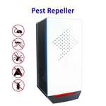 Advanced Touch Screen Mosquito Repellent Pest Control Ultrasonic Pest Repeller Plug in(White)
