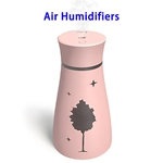 CE ROHS Approved 200ML Maple Top Fill Ultrasonic Cool Mist Humidifiers Air Humidifier(Pink)