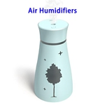 CE ROHS Approved 200ML Maple Top Fill Ultrasonic Cool Mist Humidifiers Air Humidifier(Blue)
