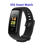 CE ROHS FCC Approved Activity Tracker Watch with Heart Rate Monitor Smart Band Smart Fitness(Black)