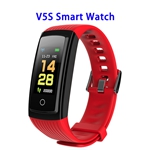 CE ROHS FCC Approved Activity Tracker Watch with Heart Rate Monitor Smart Band Smart Fitness(Red)