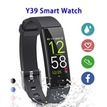 Y39 0.96inch Colorful Touching Screen Professional Smart Bracelet Fitness Smart Band (Black)