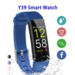Y39 0.96inch Colorful Touching Screen Professional Smart Bracelet Fitness Smart Band (Blue)