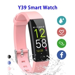 Y39 0.96inch Colorful Touching Screen Professional Smart Bracelet Fitness Smart Band (Pink)