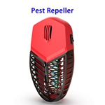Mosquito Killer Lamp Repellent Pest Control Ultrasonic Pest Repeller Plug in Bug Zapper (Red)