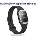 CE ROHS FCC Sonic Anti Mosquito Killer Time Display Ultrasonic Mosquito Repellent Bracelet (Black)