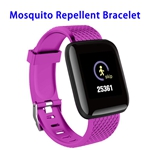 CE ROHS FCC Sonic Anti Mosquito Killer LED Display Ultrasonic Smart Repellent Bracelet(Purple)