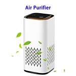 CE ROHS FCC Negative Ions Generator Hepa Filter Air Cleaner USB Charge Car Air Purifier(White)