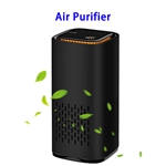 CE ROHS FCC Negative Ions Generator Hepa Filter Air Cleaner USB Charge Car Air Purifier(Black)