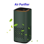 CE ROHS FCC Negative Ions Generator Hepa Filter Air Cleaner USB Charge Car Air Purifier(Green)