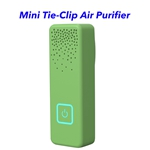 CE ROHS FCC Approved Personal Rechargeable Negative Ion Generator Portable Wearable Air Purifier (Green)