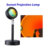 Sunset Projection Lamp 180 Degree Rotation USB Charging LED Lighting Projector Modern Lamp LED Lights (Sunset red)