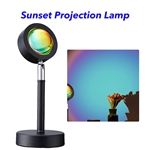 Sunset Projection Lamp 180 Degree Rotation USB Charging LED Lighting Projector Modern Lamp LED Lights(Rainbow)