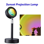 Sunset Projection Lamp 180 Degree Rotation USB Charging LED Lighting Projector Modern Lamp LED Lights(Sun)