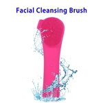 3 in 1 Electric Waterproof Sonic Facial Cleansing Brushes(Rose)