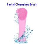 3 in 1 Electric Waterproof Sonic Facial Cleansing Brushes(Pink)