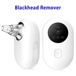 High Quality Mini Electric Blackhead Vacuum Remover with 5 Removable Probes(White)